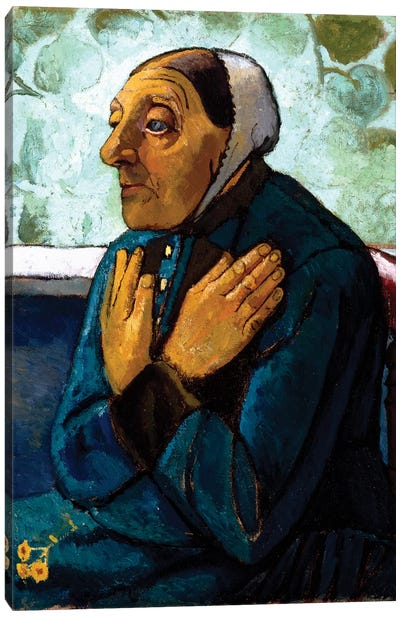 Old Peasant Woman, c.1905 Canvas Art Print