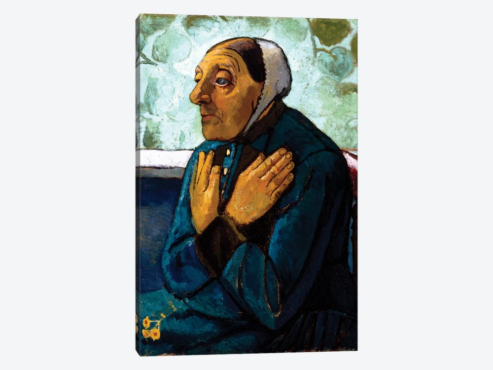 Old Peasant Woman, c.1905 by Paula Modersohn-Becker 1-piece Canvas Print