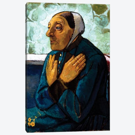 Old Peasant Woman, c.1905 Canvas Print #BMN7646} by Paula Modersohn-Becker Canvas Print