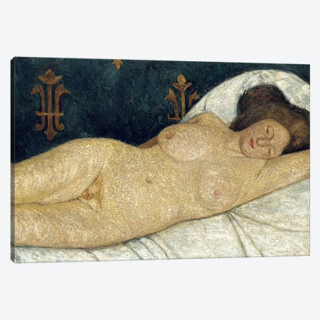 Reclining Female Nude, 1905-06 Canvas Print #BMN7648} by Paula Modersohn-Becker Canvas Wall Art