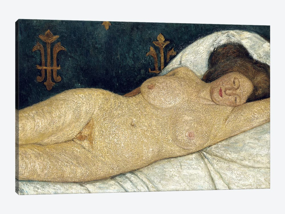 Reclining Female Nude, 1905-06 1-piece Canvas Art Print