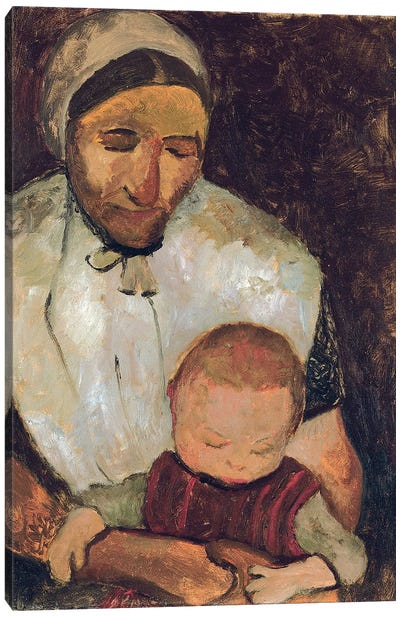 Seated Woman With A Child On Her Lap (Sitzende Bauerin mit Kind auf dem Schoss), 1903 Canvas Art Print