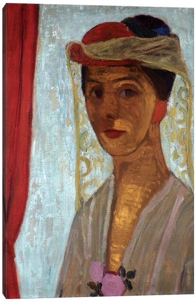 Self Portrait, 1906-07 Canvas Art Print