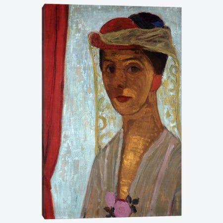 Self Portrait, 1906-07 Canvas Print #BMN7650} by Paula Modersohn-Becker Art Print