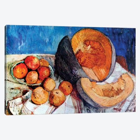 Still Life With Melon, 1905 Canvas Print #BMN7651} by Paula Modersohn-Becker Art Print