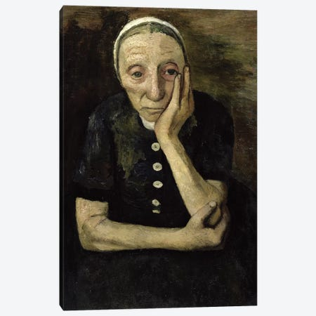 The Old Farmer, 1903 Canvas Print #BMN7652} by Paula Modersohn-Becker Art Print