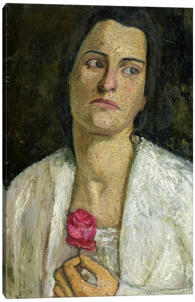 The Sculptress Clara Rilke-Westhoff, 1905 Canvas Art Print