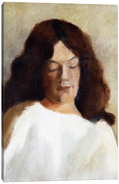 Young Woman With Her Hair Down, c.1897 Canvas Art Print