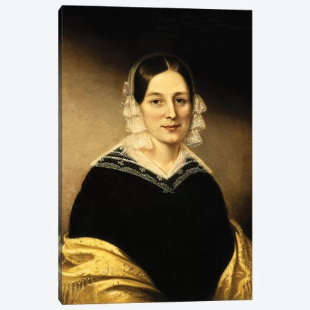 Portrait Of Mrs. William Crane, c.1840 Canvas Print #BMN7656} by Sarah Miriam Peale Canvas Art
