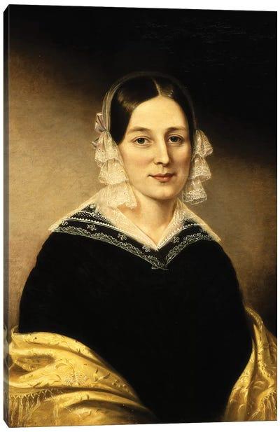 Portrait Of Mrs. William Crane, c.1840 Canvas Art Print