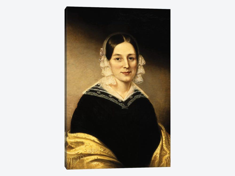 Portrait Of Mrs. William Crane, c.1840 by Sarah Miriam Peale 1-piece Canvas Art