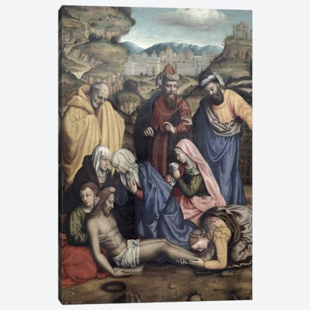 Lamentation, 1550 Canvas Print #BMN7657} by Sister Plautilla Nelli Canvas Artwork