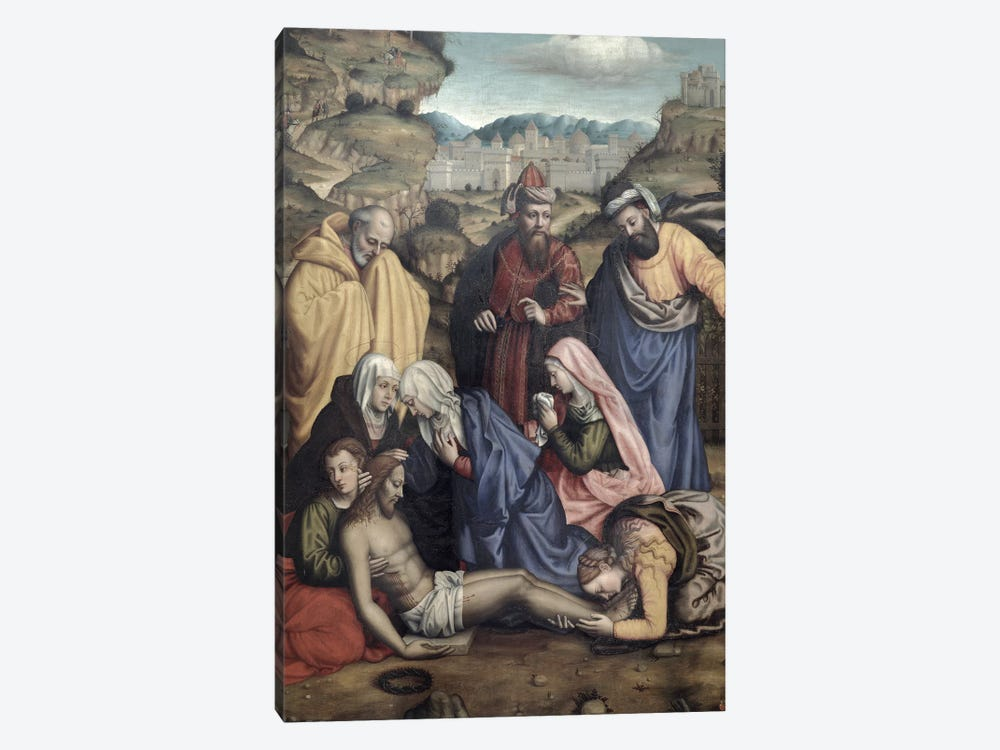 Lamentation, 1550 by Sister Plautilla Nelli 1-piece Canvas Print
