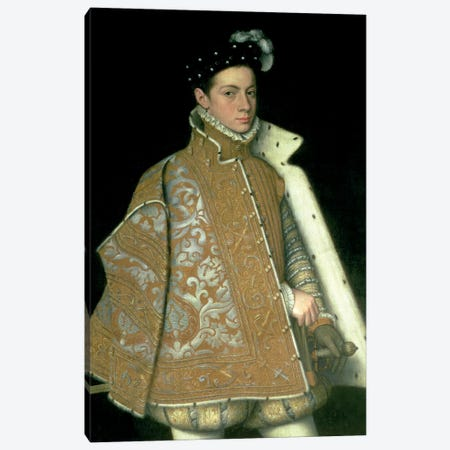 Alessandro Farnese, Son Of Margaret Of Parma And Ottavio Farnese (Duke Of Parma), c.1561 Canvas Print #BMN7658} by Sofonisba Anguissola Canvas Print