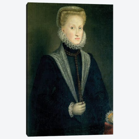 Anna Of Austria, Queen Of Spain, Wife Of Philip II Of Spain, c.1573 Canvas Print #BMN7659} by Sofonisba Anguissola Canvas Print