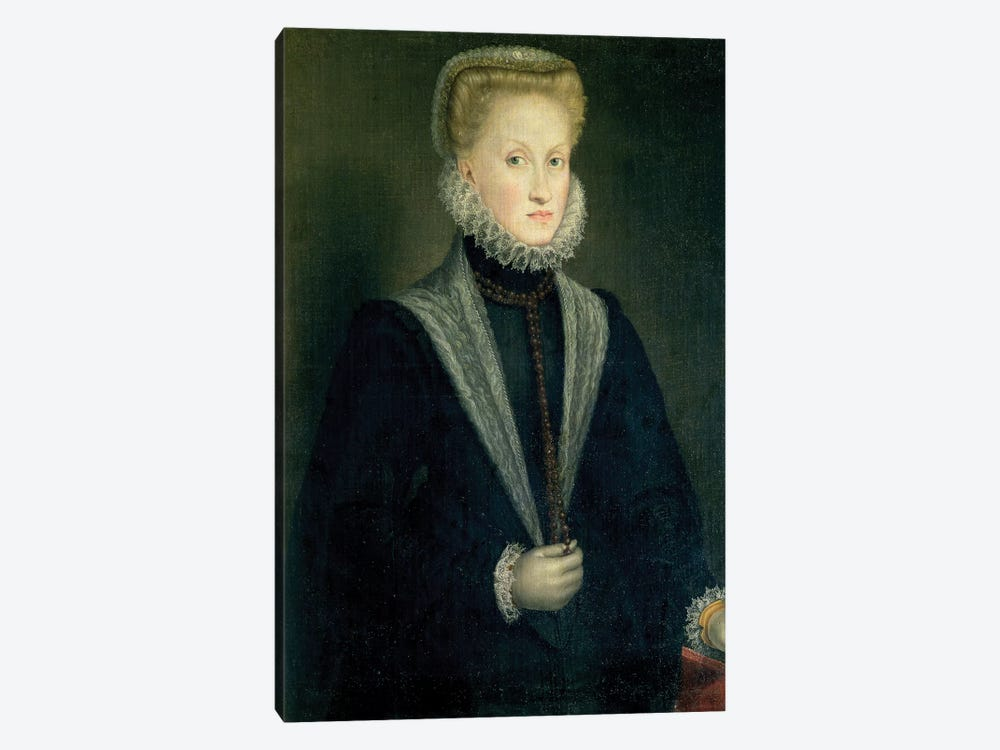 Anna Of Austria, Queen Of Spain, Wife Of Philip II Of Spain, c.1573 by Sofonisba Anguissola 1-piece Canvas Art Print