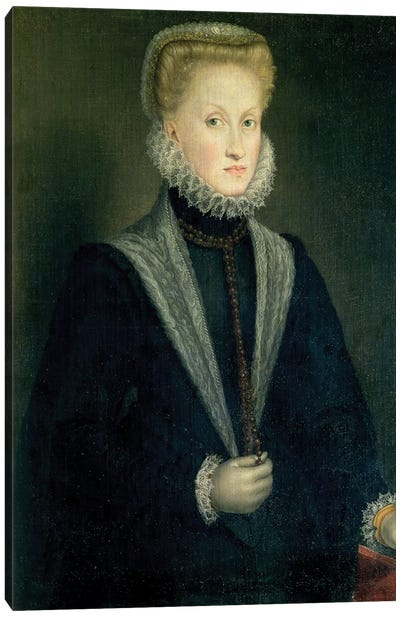 Anna Of Austria, Queen Of Spain, Wife Of Philip II Of Spain, c.1573 Canvas Art Print