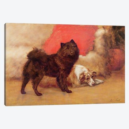 The Red Cushion Canvas Print #BMN765} by Maud Earl Canvas Wall Art