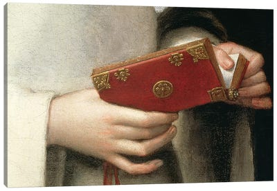 Detail Of The Prayer Book I, Portrait Of The Artist's Sister In The Garb Of A Nun Canvas Art Print