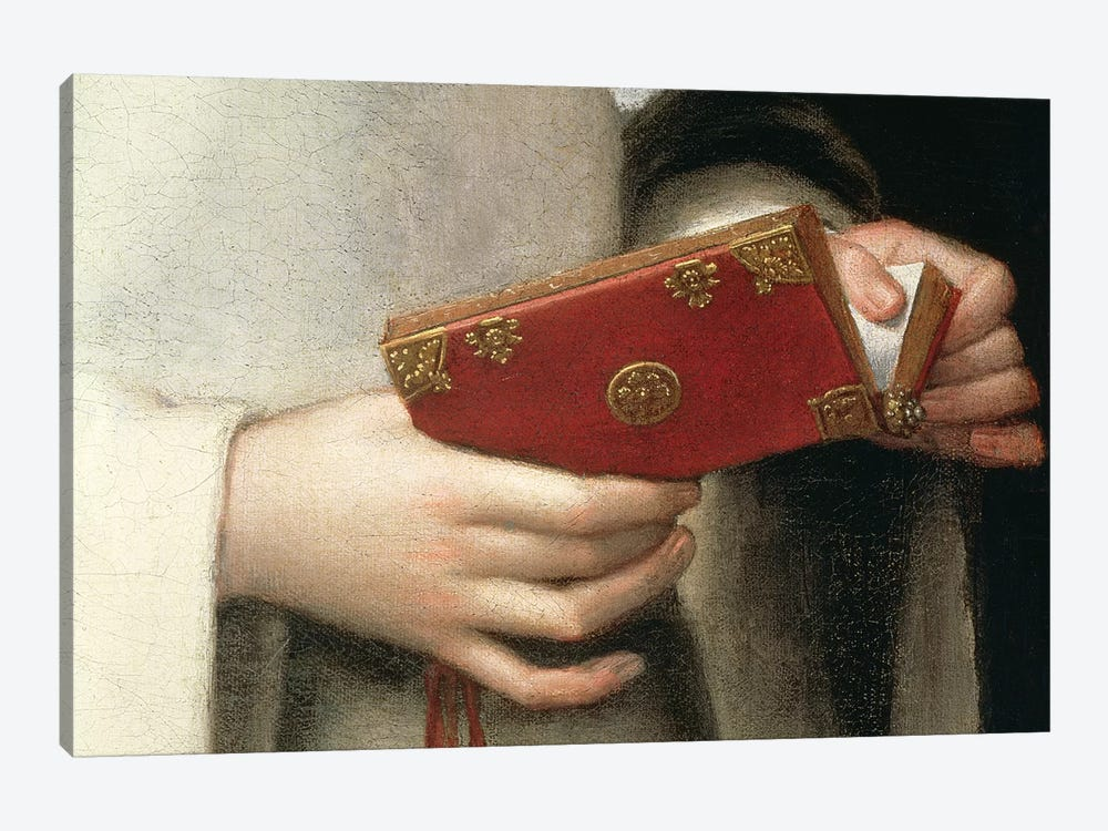 Detail Of The Prayer Book I, Portrait Of The Artist's Sister In The Garb Of A Nun by Sofonisba Anguissola 1-piece Canvas Artwork