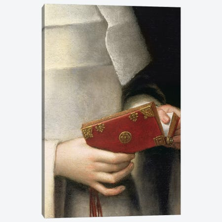 Detail Of The Prayer Book II, Portrait Of The Artist's Sister In The Garb Of A Nun Canvas Print #BMN7662} by Sofonisba Anguissola Canvas Art