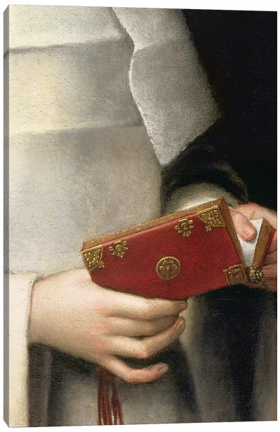 Detail Of The Prayer Book II, Portrait Of The Artist's Sister In The Garb Of A Nun Canvas Art Print