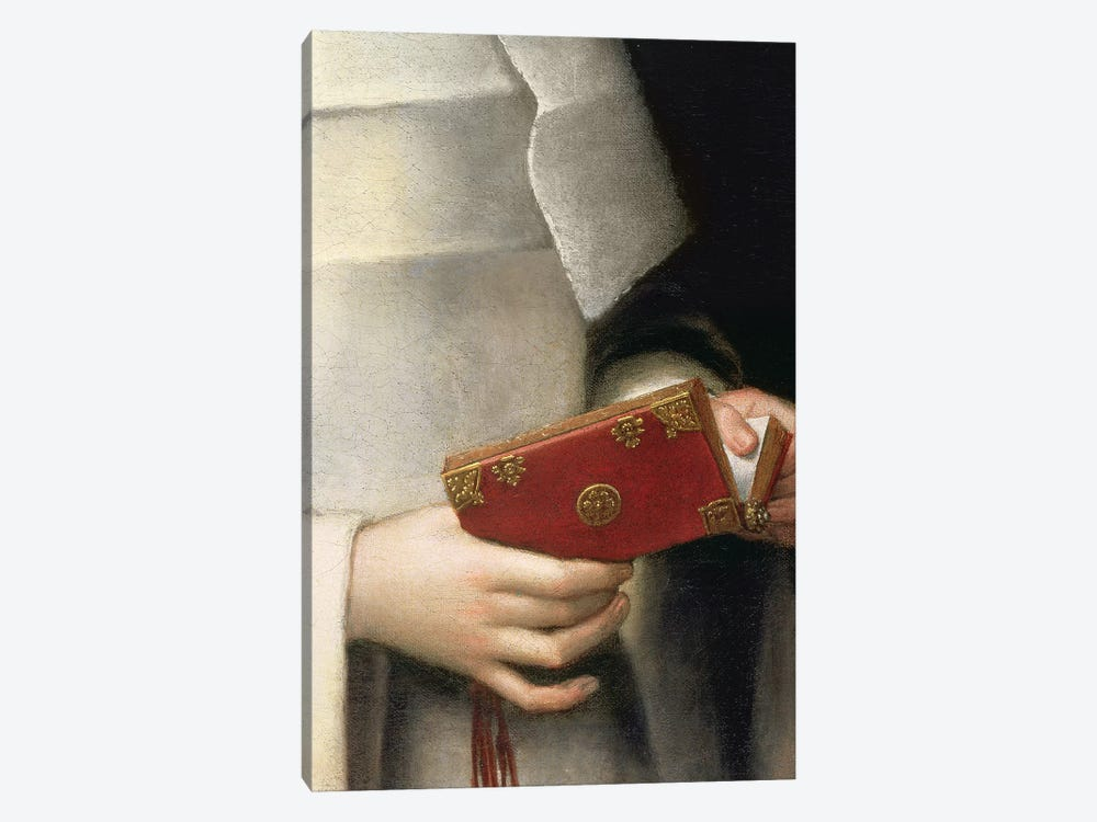 Detail Of The Prayer Book II, Portrait Of The Artist's Sister In The Garb Of A Nun by Sofonisba Anguissola 1-piece Canvas Print