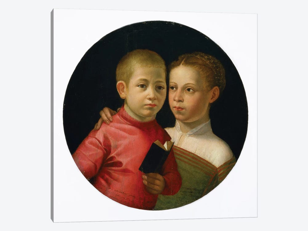 Double Portrait Of A Boy And Girl Of The Attavanti Family, c.1580 by Sofonisba Anguissola 1-piece Canvas Wall Art