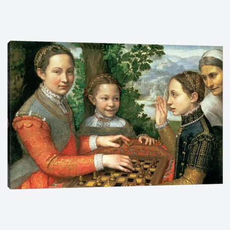 Game Of Chess, 1555 Canvas Print #BMN7664} by Sofonisba Anguissola Art Print