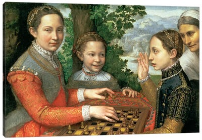 Game Of Chess, 1555 Canvas Art Print
