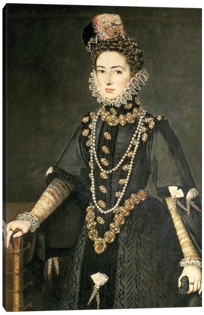 Infanta Catalina Micaela, Duchess Of Savoy, Daughter Of Philip II Of Spain And Isabella Of Valois, 1584 Canvas Art Print