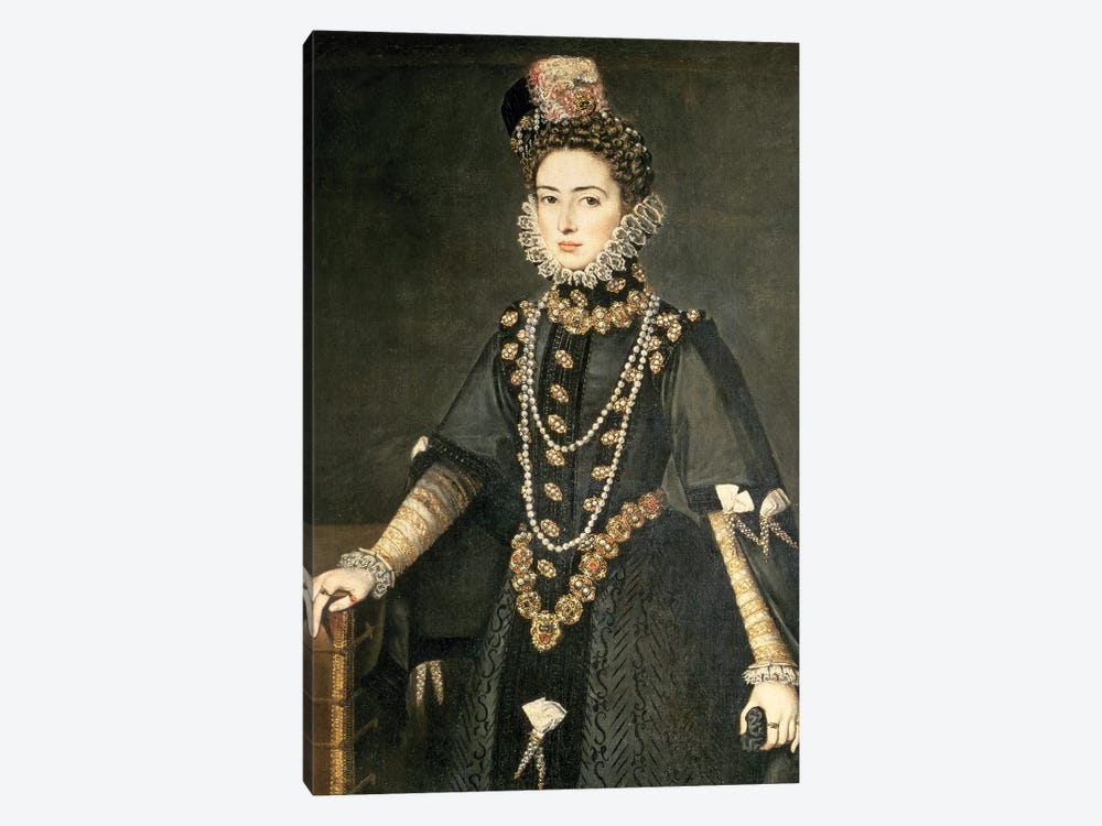 Infanta Catalina Micaela, Duchess Of Savoy, Daughter Of Philip II Of Spain And Isabella Of Valois, 1584 by Sofonisba Anguissola 1-piece Canvas Print
