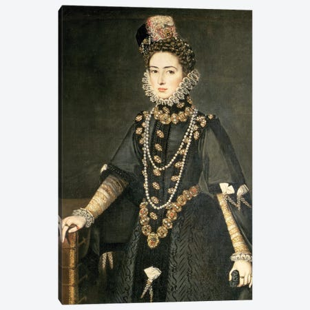 Infanta Catalina Micaela, Duchess Of Savoy, Daughter Of Philip II Of Spain And Isabella Of Valois, 1584 Canvas Print #BMN7666} by Sofonisba Anguissola Art Print