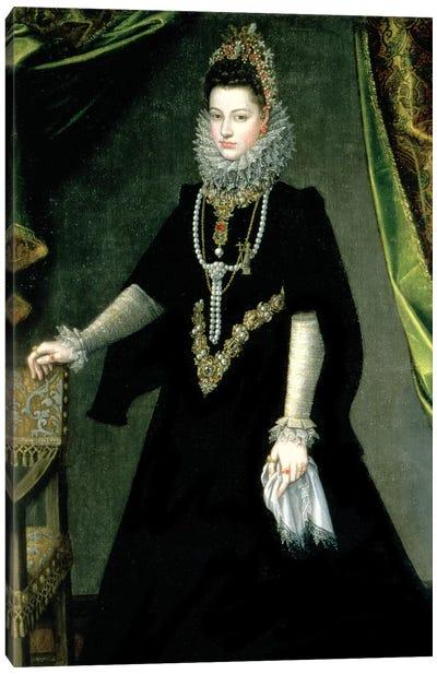 Infanta Isabella Clara Eugenia, Daughter Of King Philip II Of Spain And Isabella Of Valois, 1599 Canvas Art Print