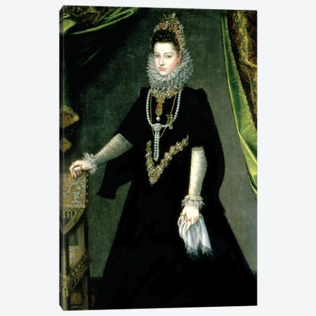 Infanta Isabella Clara Eugenia, Daughter Of King Philip II Of Spain And Isabella Of Valois, 1599 Canvas Print #BMN7667} by Sofonisba Anguissola Art Print