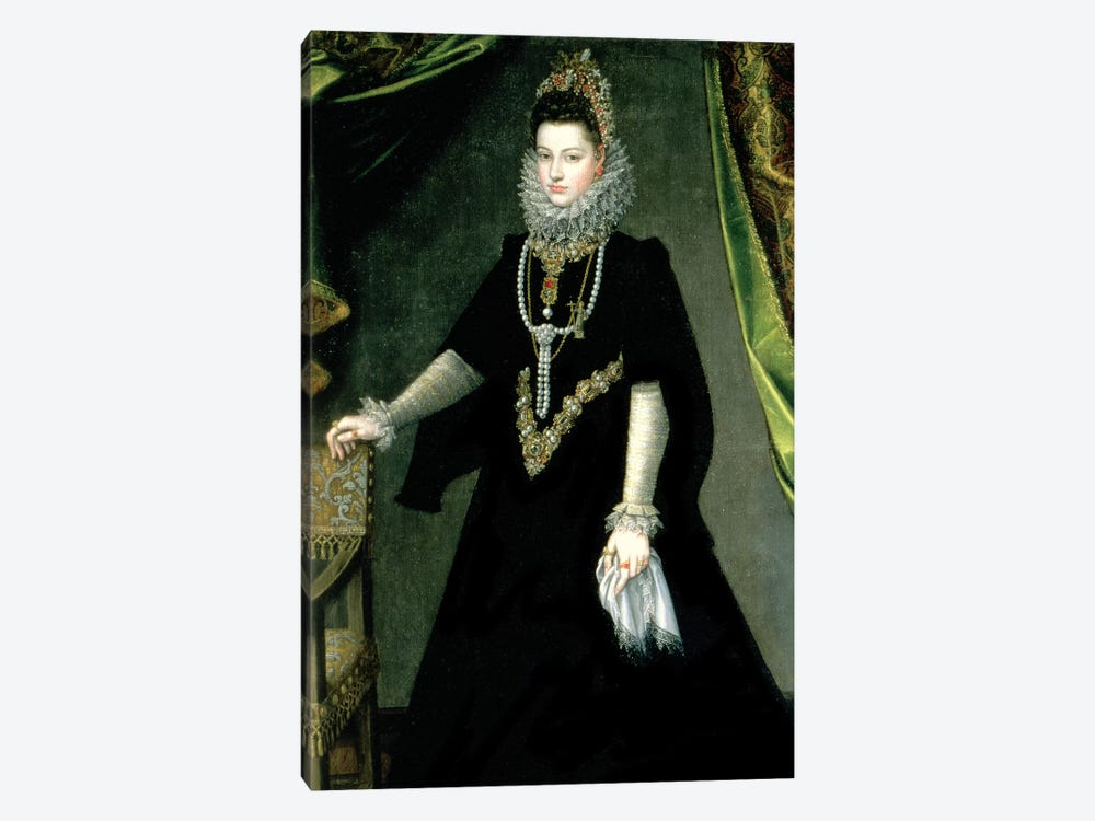 Infanta Isabella Clara Eugenia, Daughter Of King Philip II Of Spain And Isabella Of Valois, 1599 by Sofonisba Anguissola 1-piece Canvas Wall Art