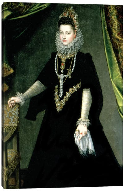 Infanta Isabella Clara Eugenia, Daughter Of King Philip II Of Spain And Isabella Of Valois, 1599 Canvas Art Print