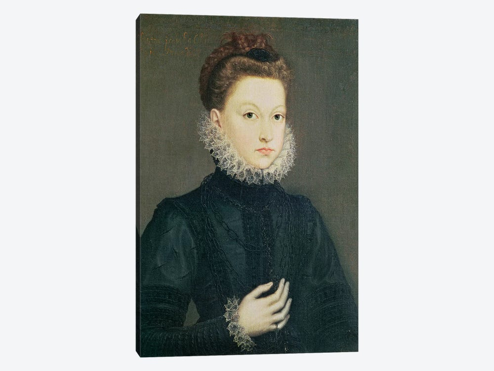 Infanta Isabella Clara Eugenia, Daughter Of Philip II Of Spain And Isabella Of Valois, c.1573 by Sofonisba Anguissola 1-piece Canvas Art Print