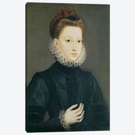 Infanta Isabella Clara Eugenia, Daughter Of Philip II Of Spain And Isabella Of Valois, c.1573 Canvas Print #BMN7668} by Sofonisba Anguissola Canvas Wall Art