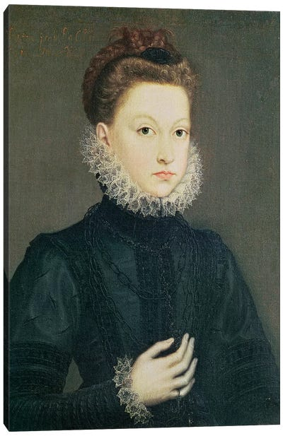 Infanta Isabella Clara Eugenia, Daughter Of Philip II Of Spain And Isabella Of Valois, c.1573 Canvas Art Print