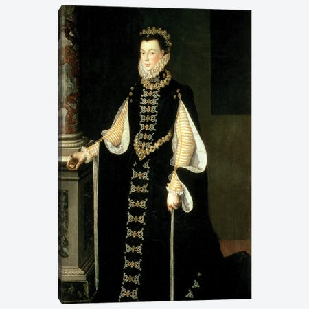 Isabella Of Valois, Queen Of Spain, Wife Of King Philip II Of Spain, 1565 Canvas Print #BMN7669} by Sofonisba Anguissola Canvas Wall Art