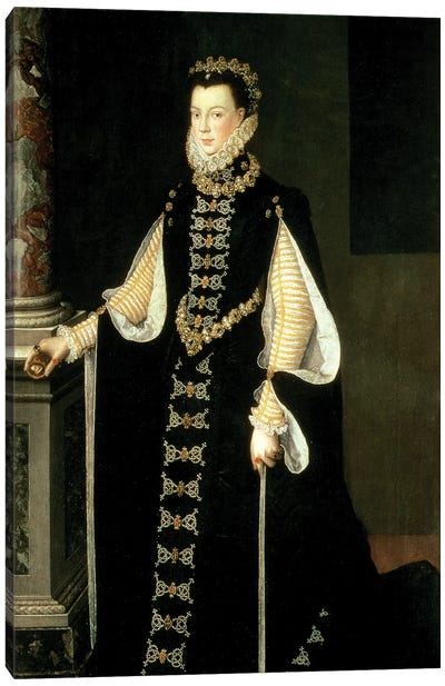 Isabella Of Valois, Queen Of Spain, Wife Of King Philip II Of Spain, 1565 Canvas Art Print