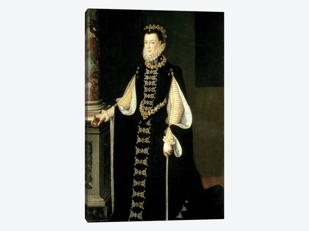 Isabella Of Valois, Queen Of Spain, Wife Of King Philip II Of Spain, 1565 by Sofonisba Anguissola 1-piece Canvas Art