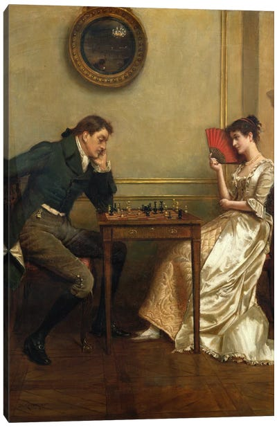 A Game of Chess Canvas Art Print