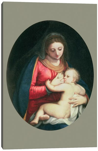Madonna And Child, 1598 Canvas Art Print