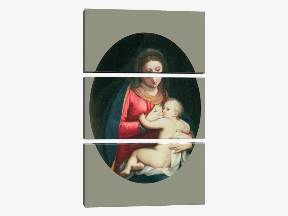 Madonna And Child, 1598 by Sofonisba Anguissola 3-piece Canvas Artwork