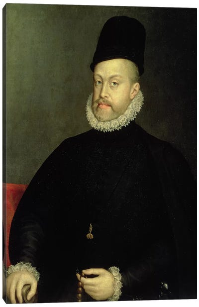 Philip II, 1565 (Original, Pre-Restoration) Canvas Art Print