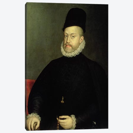 Philip II, 1565 (Original, Pre-Restoration) Canvas Print #BMN7672} by Sofonisba Anguissola Art Print