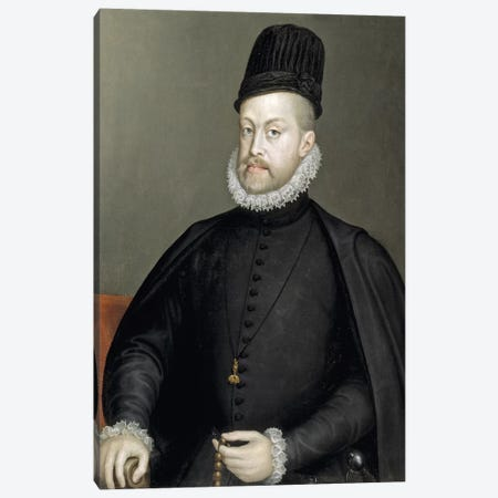 Philip II, 1573 (Final Restoration) Canvas Print #BMN7673} by Sofonisba Anguissola Canvas Art Print