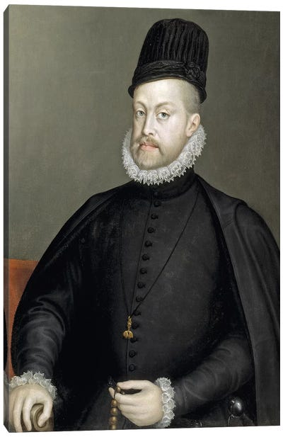 Philip II, 1573 (Final Restoration) Canvas Art Print